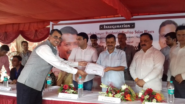 President of Ispatika Apartments being felicitated with a certificate of appreciation by the CM